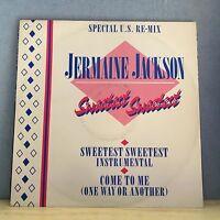 "JERMAINE JACKSON  Sweetest Sweetest 1984 UK 12"" vinyl single EXCELLENT CONDITION"