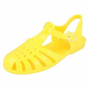 Spot On F0R711 Ladies Lemon PVC/Jelly Sandals (R26A)