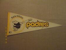 MLB San Diego Padres Vintage Circa 1980's Swingin Padre Logo Baseball Pennant