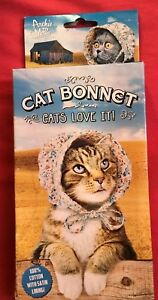 "NEW Archie McPhee ""Cat Bonnet"" - Bonnet Hat for Your Kitty Cat! Very Cute!"