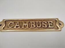 Plaque de porte laiton massif CAMBUSE neuve longueur 18cm pour la maison,bateau