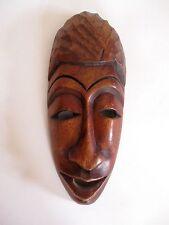 Ältere Holzmaske aus Afrika Troppenholz hand-geschnitzt 25 cm hoch