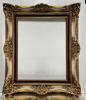 "VTG. Aesthetic Victorian Solid Wood Picture Frame Fits 16"" x 20"""