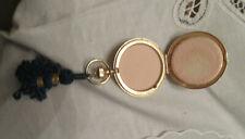 New listing Estee Lauder Evening Rose Pan Powder Compact Etched Floral Design Gold Vintage