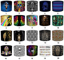 Lampshades Ideal To Match Gothic Mexican Sugar Skull Day Of The Dead Cushions.