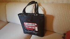 LULU GUINNESS SHOULDER BAG WITH DOUBLE DECKER LONDON BUS ( LONDON CALLING ) MED.