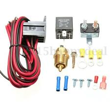175~185 Degree Engine Cooling Fan Thermostat Temperature Switch Sensor Relay Kit