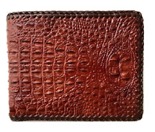 brown leather wallet bifold
