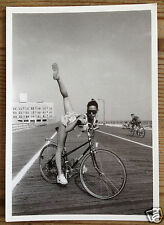 Wish It Was A Tandem - Leggy Young Athletic  Girl On A Bicycle - Charles Roff