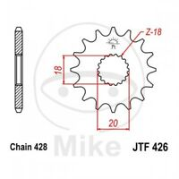 JT Motorrad Ritzel 14 Zähne, Teilung 428 JTF426.14