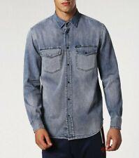 Diesel Mens' D-Rooke OGAQG Faded Casual Denim/Jeans Shirt. Size: S M L XL XXL