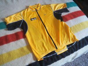 LOUIS GARNEAU Yellow Black Chainless Challenge Full Zip Road Cycling Jersey L