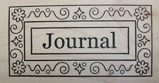 """New """"Journal"""" wood mounted stamp by Outlines Rubber Stamps"""
