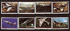 75 T2 UMM EL KIWAIN Aviation moderne, avions Chasse , commercial.8 timbres oblit