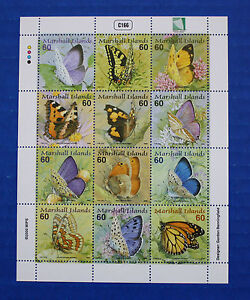 Marshall Islands (#752) 2000 Butterflies MNH sheet