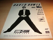 DAVID BOWIE - TOUR 90!!!PARIS BERCY!FRENCH PRESS ADVERT