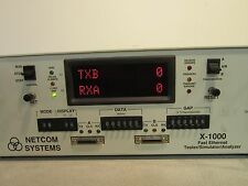 Netcom Systems X-1000 Fast Ethernet Tester/Simulator/Analyzer, Powers On *NICE*