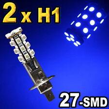 2 x H1 Super Blue 27-SMD LED Bulbs For Driving Fog Light
