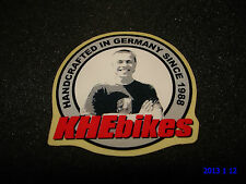 1 AUTHENTIC KHE BMX BIKES HANDCRAFTED IN GERMANY SINCE 1988 STICKER #2 DECAL