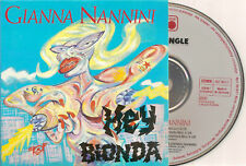 GIANNA NANNINI - hey bionda CD SINGLE 3TR 1988 METRONOM