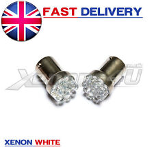 R5W G18 382 207 BA15s 1156 WHITE 9 LED STOP / TAIL CAR BULBS FORD