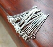 Free Shipping 200pcs Silver Plated Eye Pins Jewellery Craft Findings 30mm