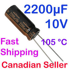 5pcs 2200uF 10V 10x25mm Nichicon HZ Ultra Low Impedance For Motherboard PC Audio