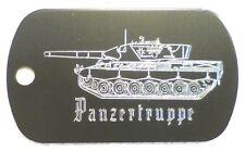 Dog Tag PANZERTRUPPE (mit Schriftzug Anhänger Gravur Erkennungsmarke Bundeswehr)