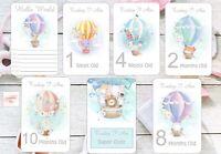 Baby Milestone Cards,Girls, Cute Hotair Balloon, Baby Shower Gift,New Mum,300gsm