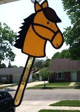 Horse Handmade Stained Glass Suncatcher Brown Pony Window Art Display VTG