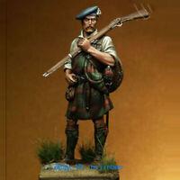 1/24 Scale 75mm Scottish Soldier Resin Figure Model Kits Unpainted Unassembled