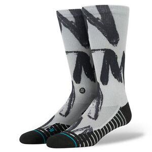 STANCE FUSION ATHLETIC MEN'S GUYS  UNCOMMON FA Socks BLACK GRAY NEW