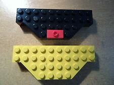 LEGO PART 30181 BLACK AND YELLOW MODIFIED BRICKS WITH CUT CORNERS