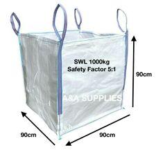More details for bulk 1 ton bag dumpy bag builders garden waste jumbo refuse one tonne sack 90cm