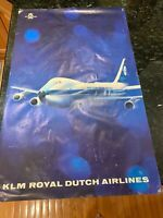 KLM Royal Dutch Airlines1919 -1969 50th Anniversary Original Travel Poster 747