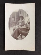 Unusual Vintage RPPC: Anonymous Child: #B154: Boy In Deckchair: Closeup On Sock!