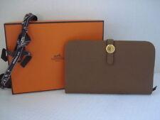 NIB Hermes Alezan Gold Veau Togo GM Duo Combined Dogon Wallet