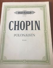 Chopin Polonaisen Edition Peters No. 1903 - Chopin - Acceptable - Paperback
