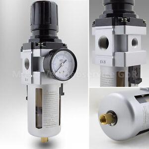 BITUXX Druckluft Wartungseinheit 1/2 Druckminderer Wasserabscheider Öler Filter