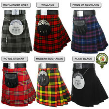 Mens Kilt, 5 Yard Scottish Kilts, 18oz Kilt Casual Kilt, Eight Tartans NEW KILTS