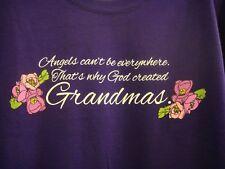 """Women's Gildan Dark Purple God Created """"Grandma's T Shirt Size L New"""
