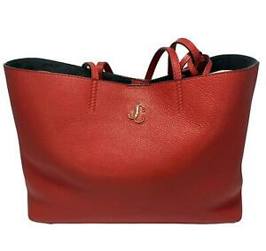 NEW, JIMMY CHOO 'NINE2FIVE' RED LEATHER TOTE BAG WITH POUCH, $1195