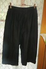 VINTAGE  70'S ~ GASTON JAUNET ~ Black  Wool KNICKERBOCKER/PANTS * Size 10 * NWT