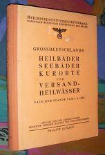 GROSSDEUTSCHLAND - Heilbäder Seebäder Kurorte Versand-Heilwässer # 1939