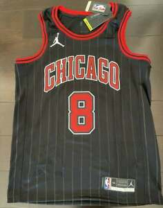 Zach LaVine #8 Chicago Bulls Swingman Nike NBA Jordan Statement Jersey