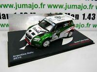 RFR9M 1/43 IXO altaya Rallye France SKODA Fabia S2000 2010 ARgentine Hänninen