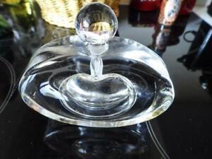 Kosta Boda Clear Glass Perfume Bottle - Large-Heavy-Signed Goran Warff 96014