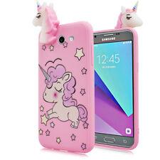 For Samsung Galaxy J3 EMERGE Cute 4D Unicorn Star Soft Rubber Silicone Skin Case