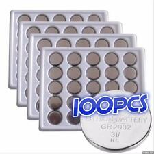 100 x EUNICELL CR2032 3V LITHIUM CELL BATTERY  DL2032 BR2032 BUTTON BATTERIES