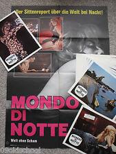 MONDO DI NOTTE WELT OHNE SCHAM -22 Aushangfotos + KINOPLAKAT- Shocking World SEX